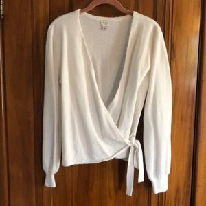 A New Day faux wrap sweater Small